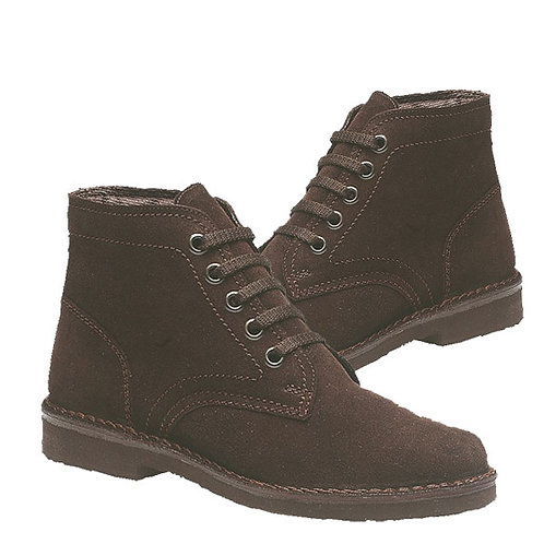 Mens Brown Leather Suede 5 Eye Leisure Boots