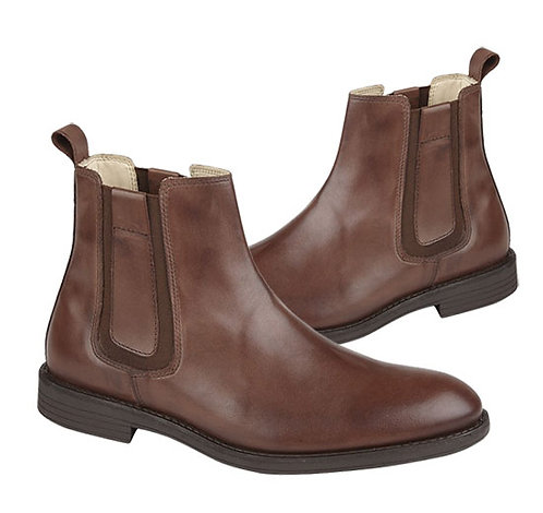 Brown Leather Lycian Chelsea Boots