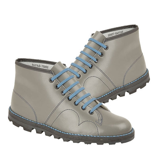 Mens and Ladies Grey Leather Original Monkey Boot