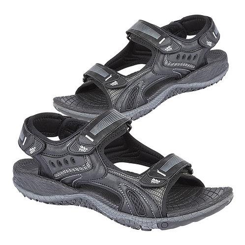 Mens Black Nubucki Sports Sandals