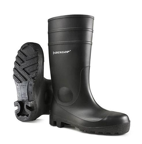 Dunlop Ladies / Mens Black Protomaster Full Safety Wellingtons