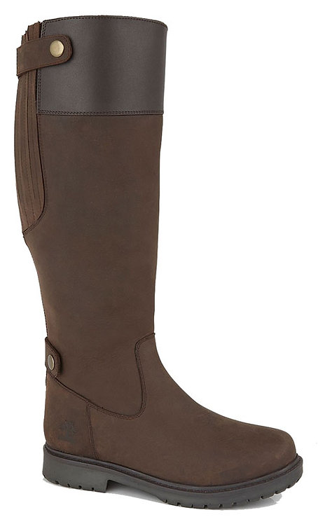 Ladies Woodland Waxy Brown Leather Waterproof Country Boots
