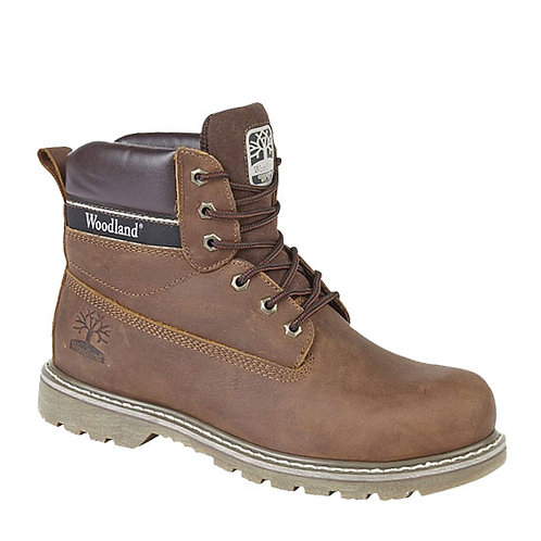 Brown Crazy Horse Leather Utility Boots
