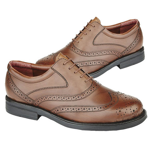 Mens Brown Leather Brogue Shoes
