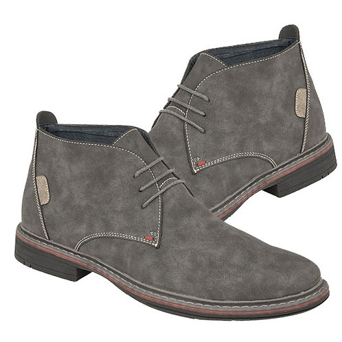 Grey Imt Nubuck Leather 3 Eye Ankle Boots