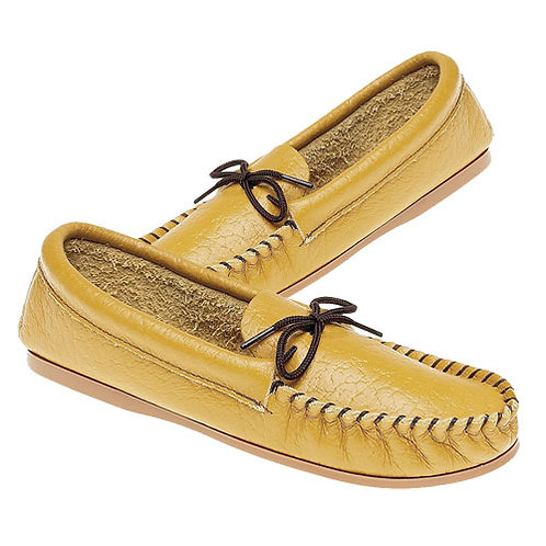 Mens Softie Leather Moccasin Slippers