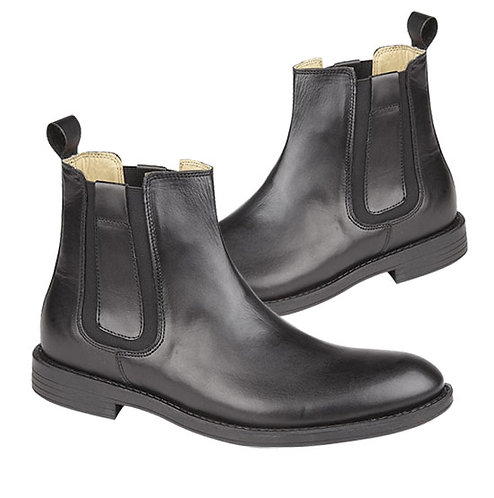 Black Leather Lycian Chelsea Boots