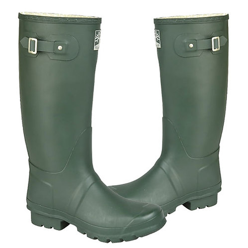 Woodland Mens / Ladies Green Wide Fit Superior Quality Wellington Boots