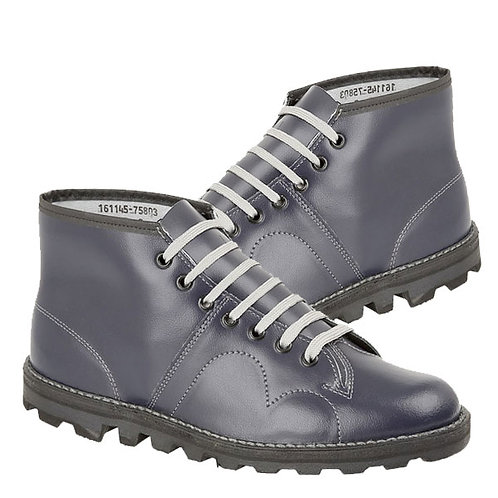 Mens and Ladies Dark Blue Leather Original Monkey Boot