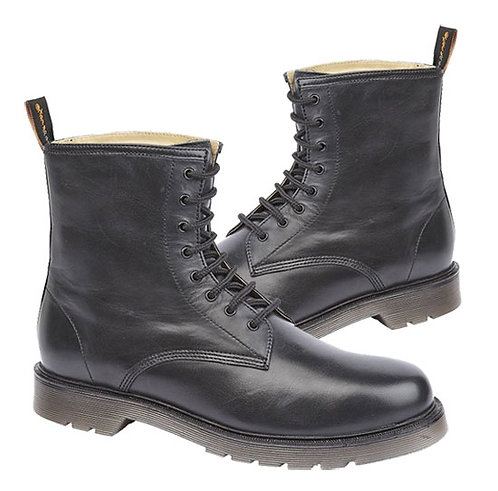 Black Leather Trooper Derby  Boots