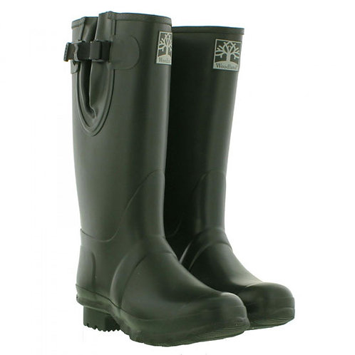 Woodland Mens / Ladies Green Field Boot Wellingtons