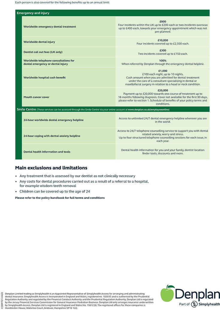 Denplan Dental Insurance