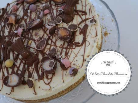 The Easiest Ever White Chocolate Easter Cheesecake...