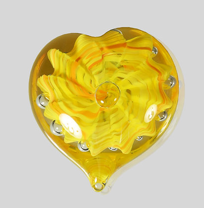 Yellow Bubble Heart