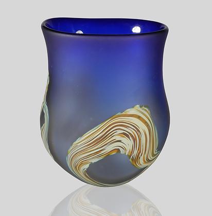 Cobalt Root Vase