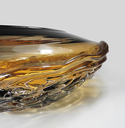 Gold & Grey Two Tone Ripple Wave Bowl