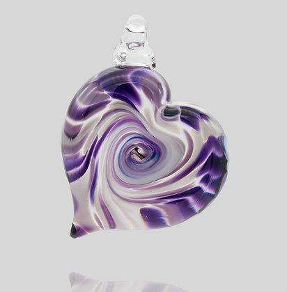Purple & White Heart Ornament