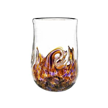 Purple Amber Twisty Cup