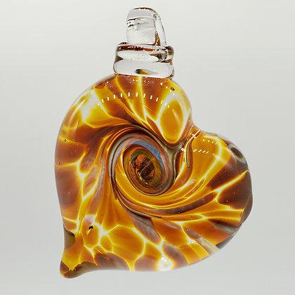 Topaz Heart Ornament