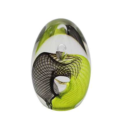 Grey & Lime Egg Paperweight