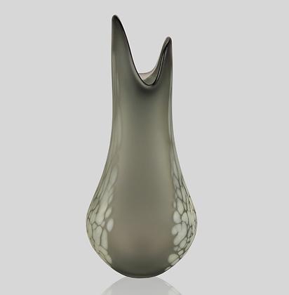 Grey & Ivory Frit Flava Vase