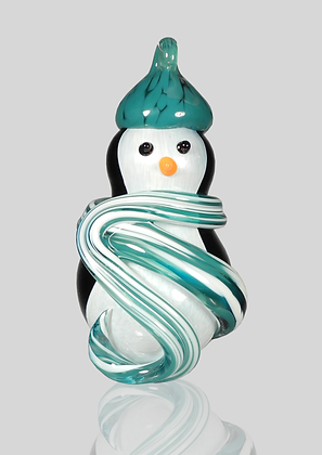 Teal Snow Penguin