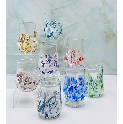 Set of 8 Arctic Twisty Cups