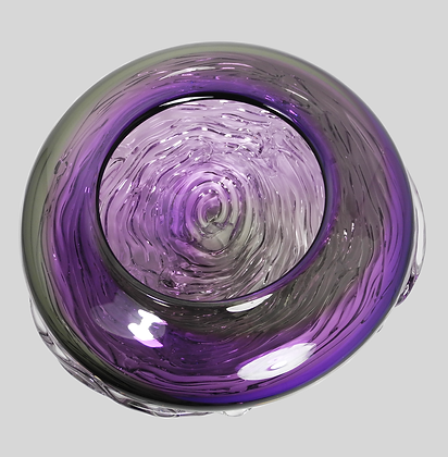Purple & Grey Two Tone Ripple Wave Bowl