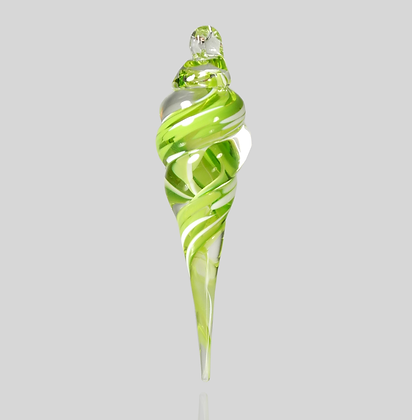 Lime & White Icicle