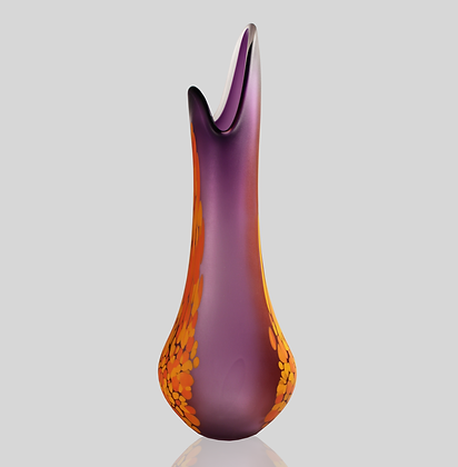 Purple & Orange Frit Flava Vase