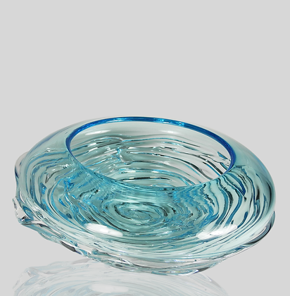 Aqua Ripple Wave Bowl