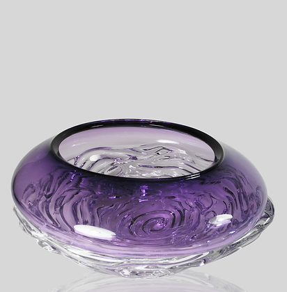 Purple Ripple Wave Bowl