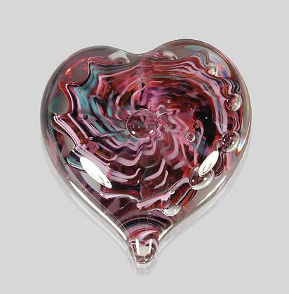 Purple Bubble Heart