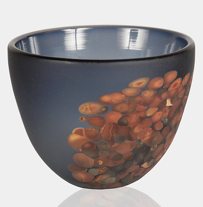 Steel Blue & Wood Flava Bowl