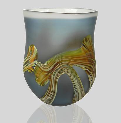 Steel Blue Root Vase