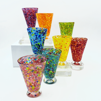 Set of 8 Bright Speckled Cups (Drop Ship)