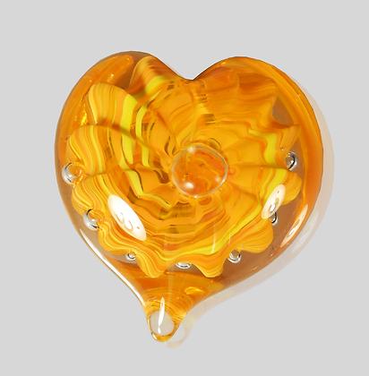 Orange Bubble Heart