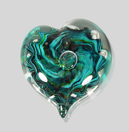 Teal Bubble Heart