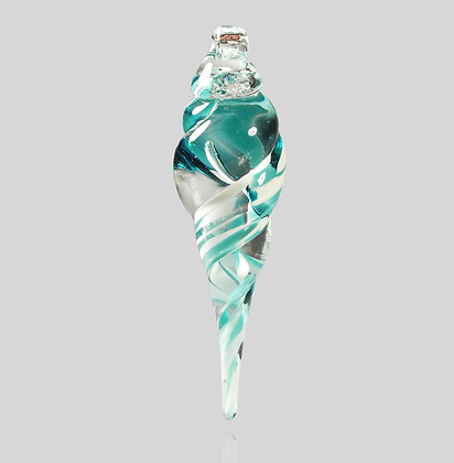 Teal & White Icicle