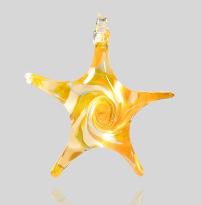 Orange & White Star