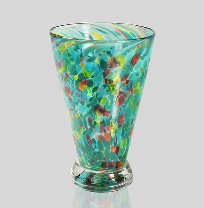 Teal Speckled Cup