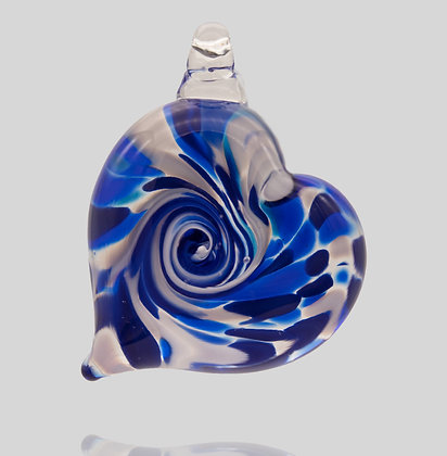 Royal Blue Heart Ornament