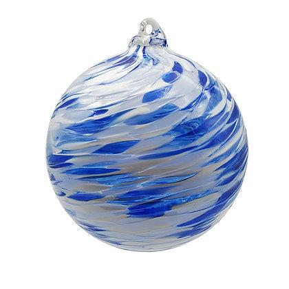 Arctic Blue Swirling Friendship Ball
