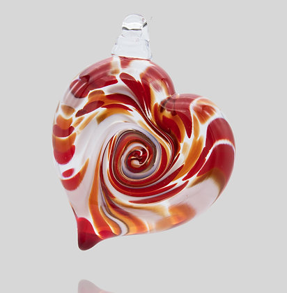 Red & White Heart Ornament