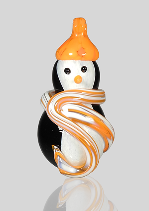 Orange Snow Penguin