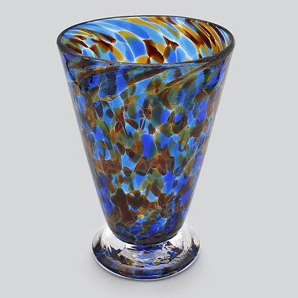 Blue Amber Speckled Cup