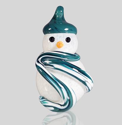 Teal Snowman