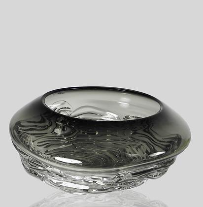 Grey Ripple Wave Bowl
