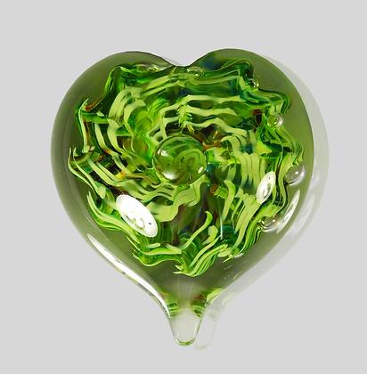 Green Bubble Heart