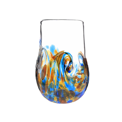 Blue Amber Twisty Cup